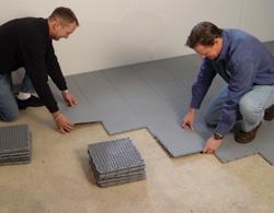 thermaldry basement floor matting customize your basement floor with