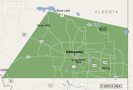 Service Area For Basement Systems Edmonton Basement