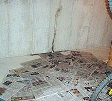 Leaking Basement Wall Crack in Edmonton
