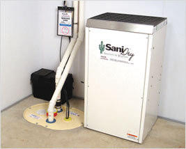 Basement dehumidification in Edmonton